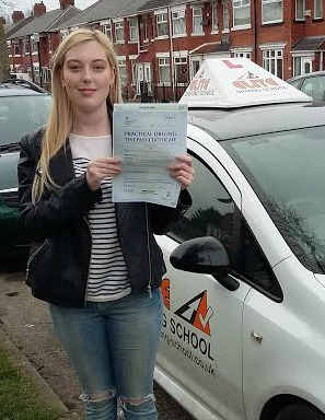 This is Molly Cooper who took her driving lessons in York