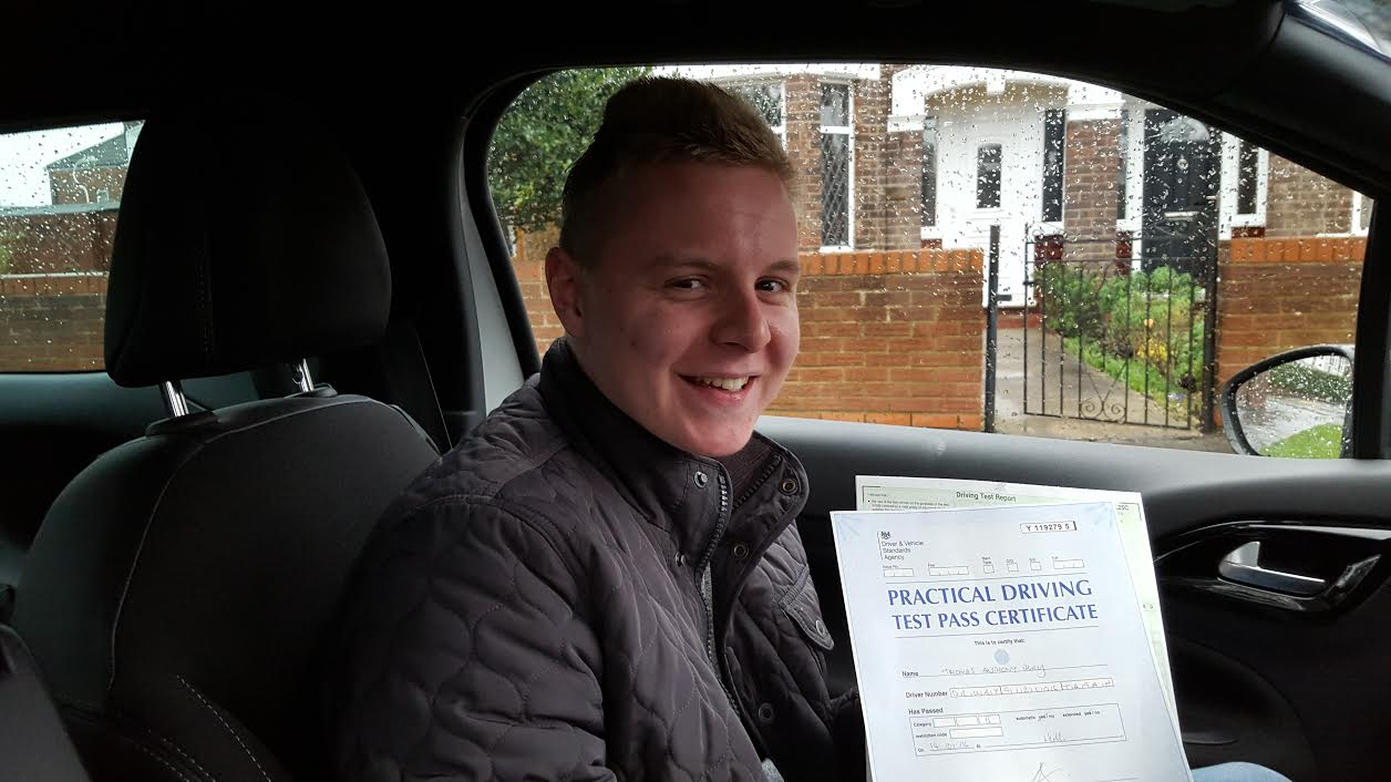 This is Tom Drury who took his driving lessons in Hull