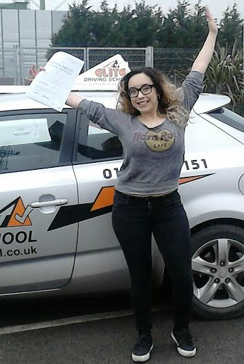 This is Emma Turner who took her driving lessons in Hull
