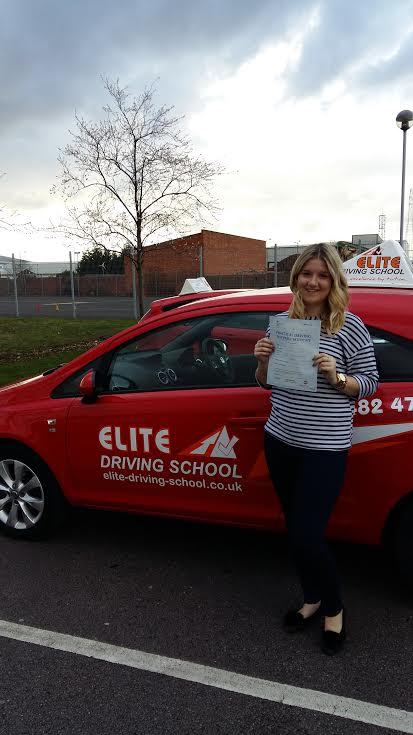 This is Rebecca Gill who took her driving lessons in York