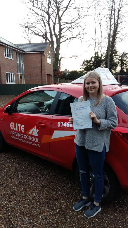 This is Lucy Hubbard who took her driving lessons in York