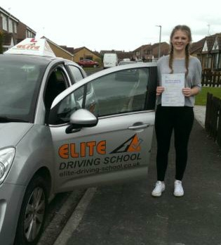 This is Evie Forrester who took her driving lessons in Hull