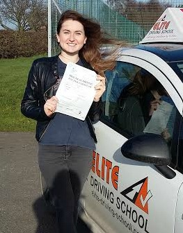 This is Lucy Blook who took her driving lessons in York