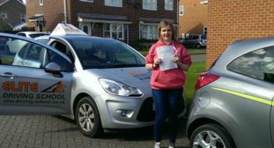 This is Sarah Adamson who took her driving lessons in York