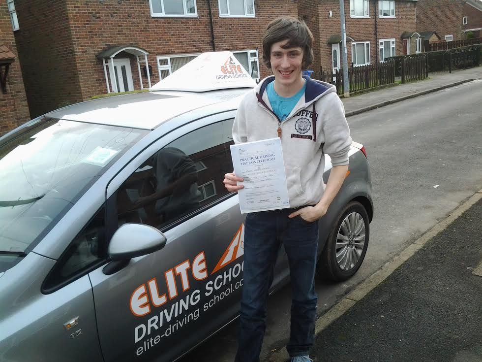 This is Adam Hague who took his driving lessons in York