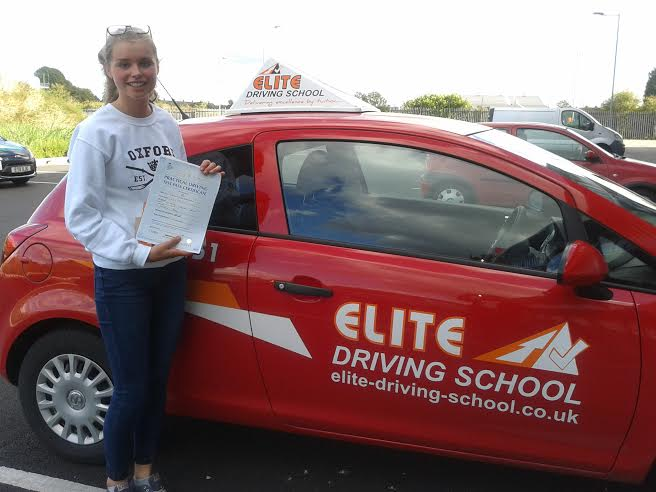 This is Camilla Eggleston who took her driving lessons in York