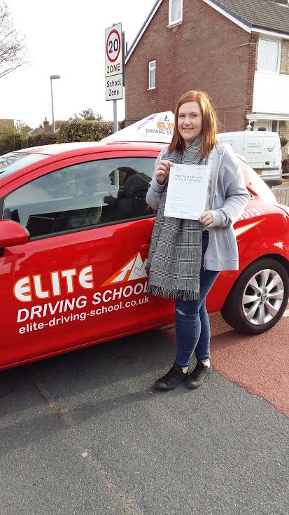 This is Chelsey Edgington who took her driving lessons in Hull