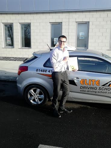 This is Jonathan Tebay who took his driving lessons in York