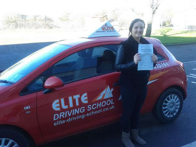 This is Laura Hawkins who took her driving lessons in York