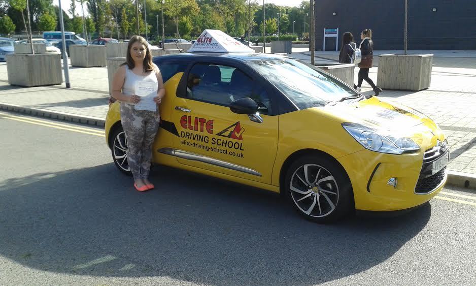 This is Alisha Smith who took her driving lessons in York