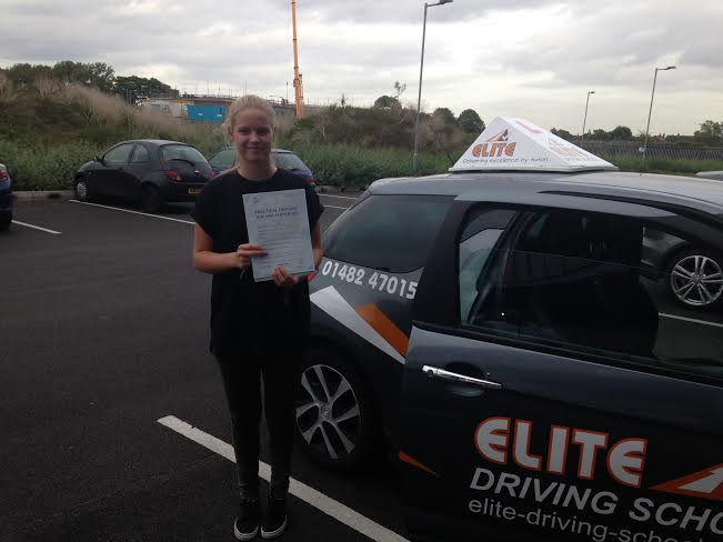 This is Amy Tait who took her driving lessons in Hull