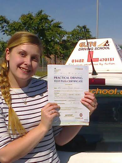 This is Gemma Spencer who took her driving lessons in York