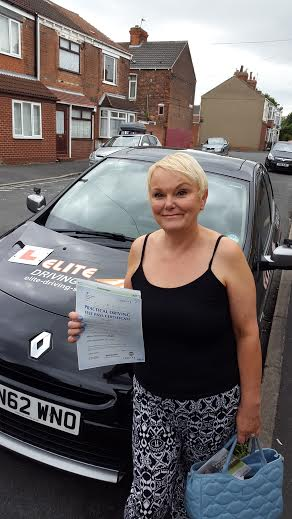 This is Geraldine Allen who took her driving lessons in York