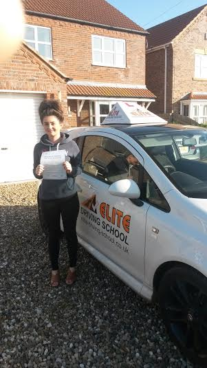 This is Heather Langton who took her driving lessons in York