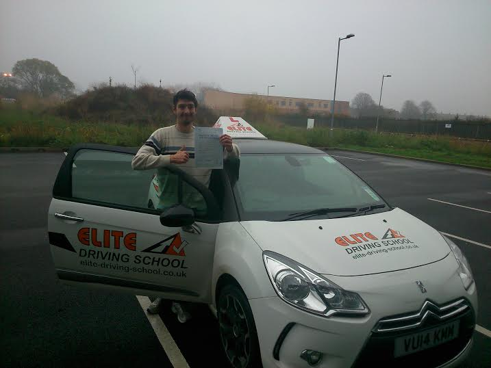 This is Matthew Clarke who took his driving lessons in Hull