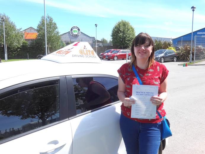 This is Natalie Dudding who took her driving lessons in York