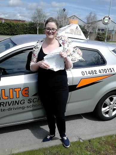This is Rebecca Cass who took her driving lessons in York