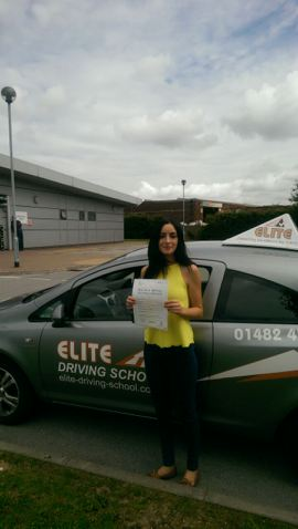 This is Rebecca Ward who took her driving lessons in Hull