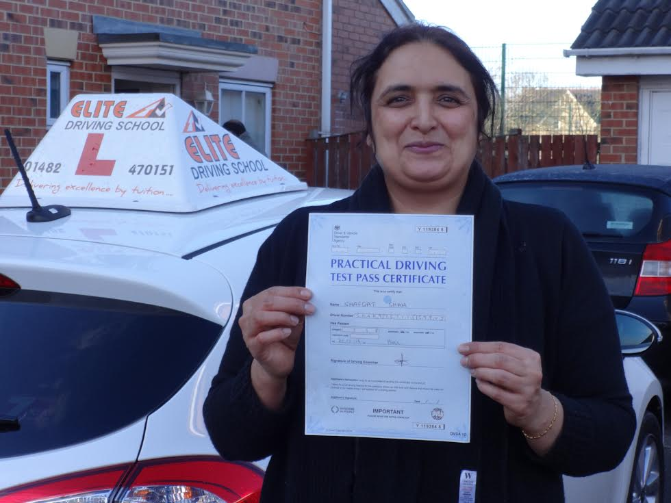 This is Shafqat Shah who took her driving lessons in Hull