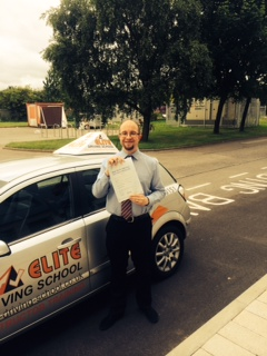 This is Chris Bellis who took his driving lessons in Hull