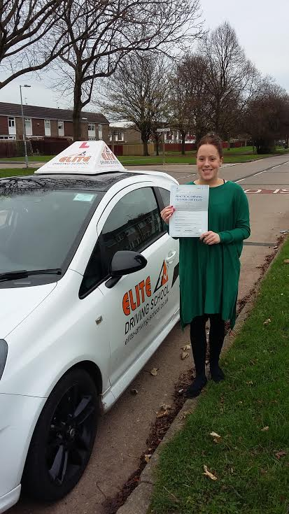 This is Courtney Purchon who took her driving lessons in Hull