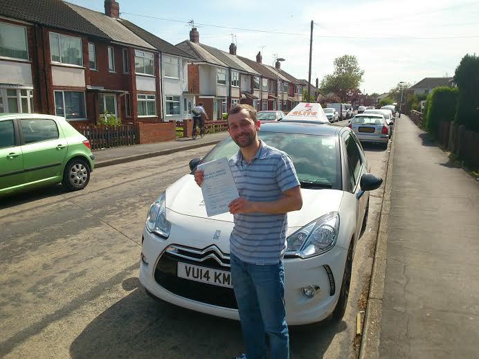This is David Desborough who took his driving lessons in Hull