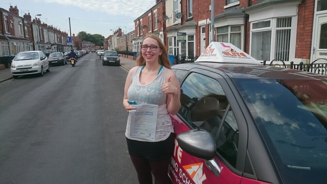This is Dee Dowding who took her driving lessons in Hull