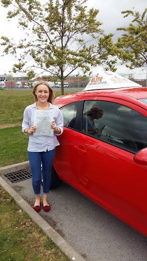 This is Emily Hogarth who took her driving lessons in York