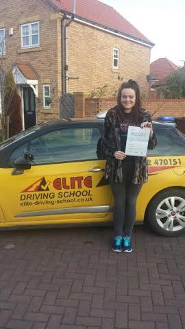 This is Kate Parry who took her driving lessons in York