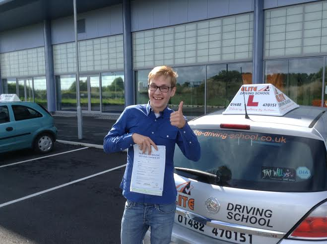 This is Lewis St Paul who took his driving lessons in Hull