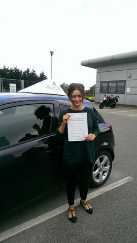 This is Lucy Stewart who took her driving lessons in Hull