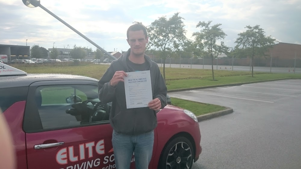This is Shane Whinn who took his driving lessons in York