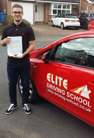 This is Harvey Spence who took his driving lessons in Hull
