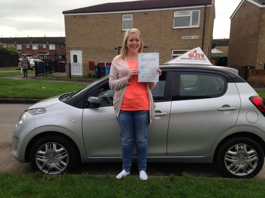 This is Chloe Marsh who took her driving lessons in Hull