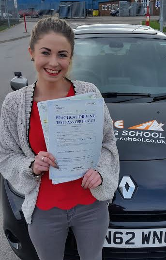 This is Georgia Moy who took her driving lessons in York