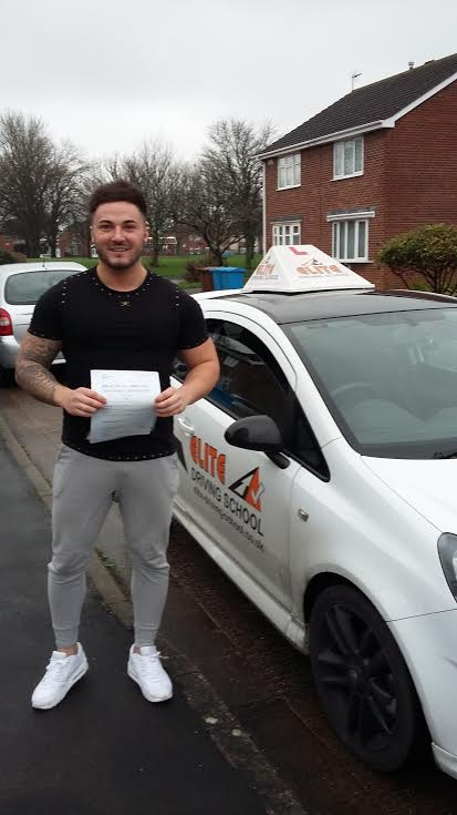 This is Lewis Render who took his driving lessons in York