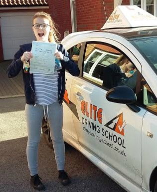 This is Amy Edwards who took her driving lessons in York