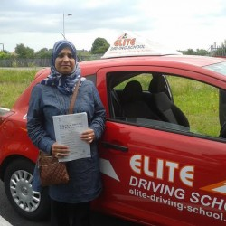 This is Rihab Alasadi who took her driving lessons in Hull