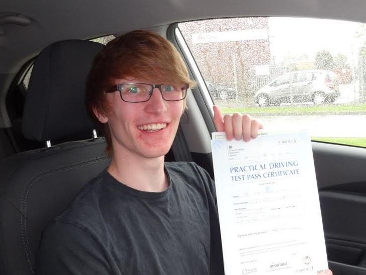This is Ryan Hirons who took his driving lessons in York