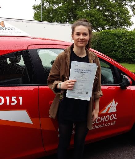 This is Jasmine Williamson who took her driving lessons in Hull