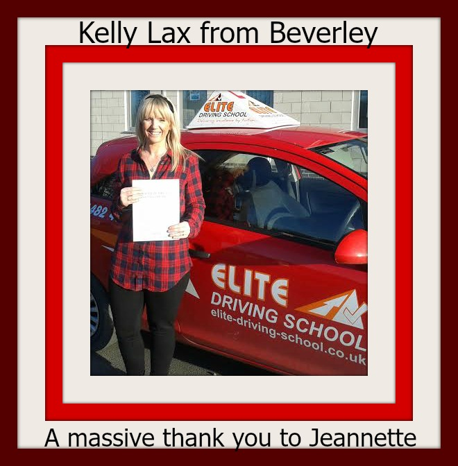 This is Kelly Lax who took her driving lessons in Hull