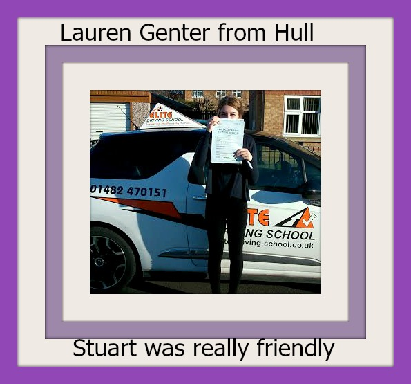 This is Lauren Genter who took her driving lessons in York
