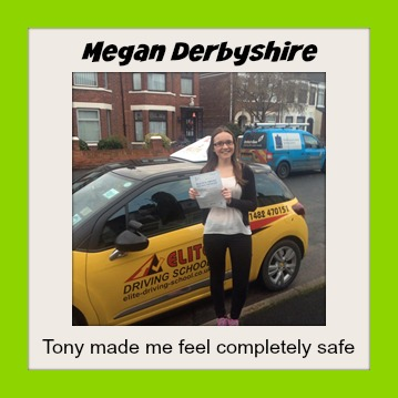 This is Megan Derbyshire who took her driving lessons in Hull