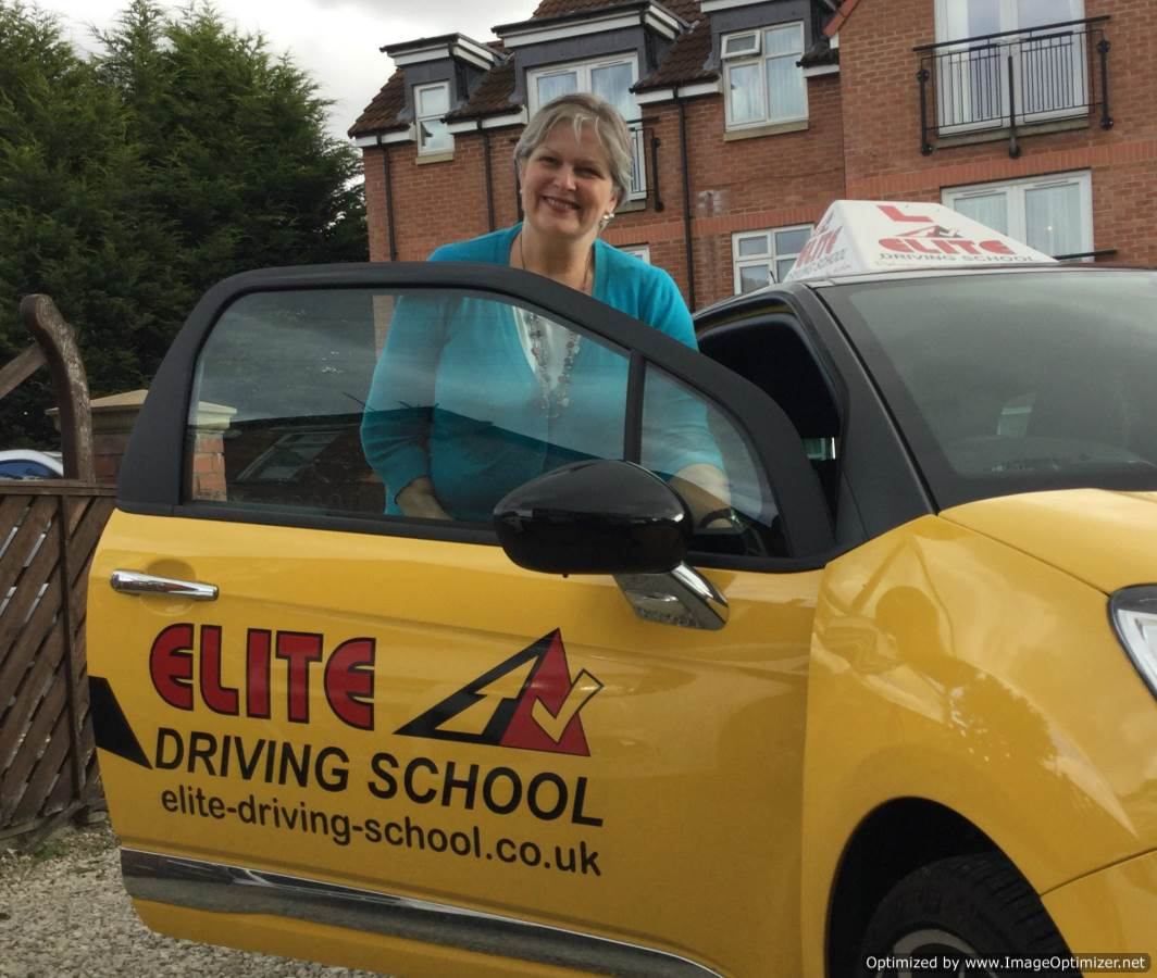 female Driving  instructor beverley Sarah Healey